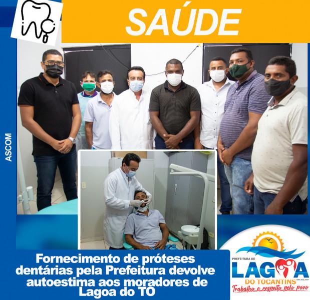 Fornecimento de próteses dentárias pela Prefeitura devolve autoestima aos moradores de Lagoa do TO