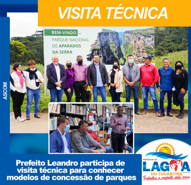 Prefeito Leandro participa de visita técnica para conhecer modelos de concessão de parques