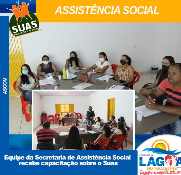 LAGOA DO TO: Equipe da Secretaria de Assistência Social recebe capacitação sobre o Suas