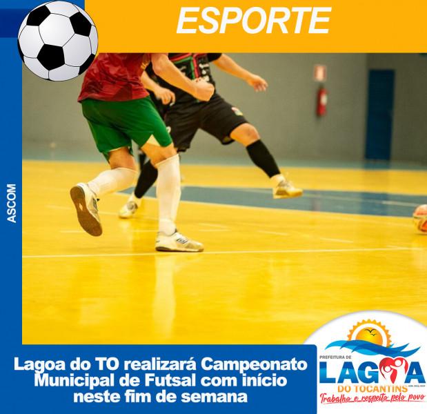 Lagoa do TO realizará Campeonato Municipal de Futsal com início neste fim de semana
