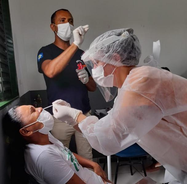 LAGOA DO TO: Equipe da Saúde Municipal realiza mutirão de testes em pessoas com sintomas da Covid-19