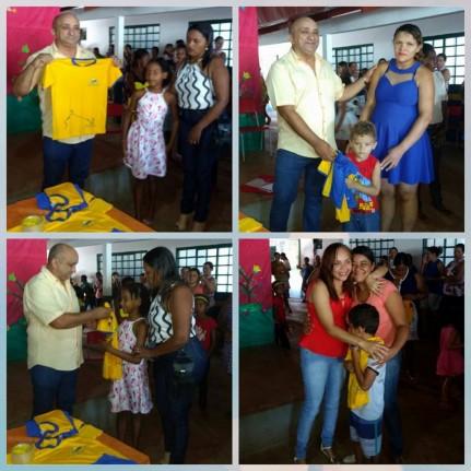 Prefeito Raimundo Nonato Nestor, Primeira Dama Ana Paula Nestor e pais de alunos